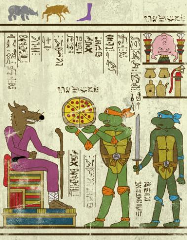 হিরোগ্লিফস-জশ লেইন; প্রাপ্তিসূত্র - http://geektyrant.com/news/hero-glyphics-art-series-by-josh-lane