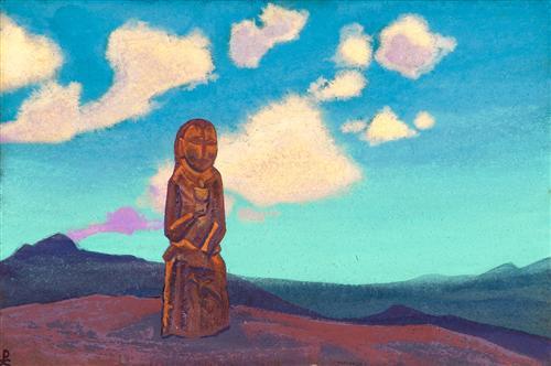 'মঙ্গোলিয়ার পেয়ালাধারী' - নিকোলাস রোয়েরিক, ১৯৩৭ ; প্রাপ্তিসূত্র - http://www.wikiart.org/en/nicholas-roerich/the-holder-of-the-cup-mongolia-1937