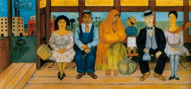 বাস - ফ্রিদা কাহলো, ১৯২৯ ; প্রাপ্তিসূত্র - https://lisawallerrogers.files.wordpress.com/2009/05/the-bus-1929-by-frida-kahlo.jpg