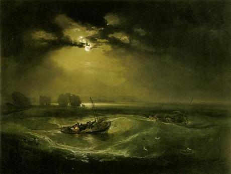 'সমুদ্রে জেলেরা' - উইলিয়াম টার্নার, ১৭৯৬ ; প্রাপ্তিসূত্র - http://www.wikiart.org/en/william-turner/fishermen-at-sea