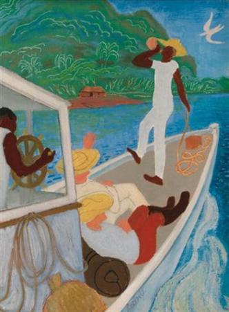 ব্যানানা লঞ্চ - লিওন আন্ডারউড ; প্রাপ্তিসূত্র - http://www.wikiart.org/en/leon-underwood/banana-launch