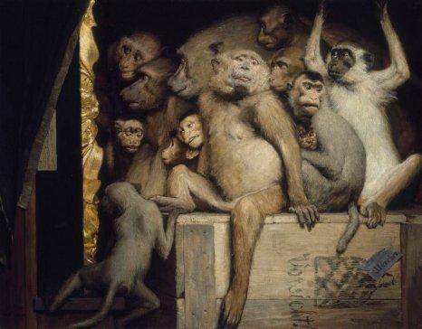 767px-Gabriel_Cornelius_von_Max,_1840-1915,_Monkeys_as_Judges_of_Art,_1889